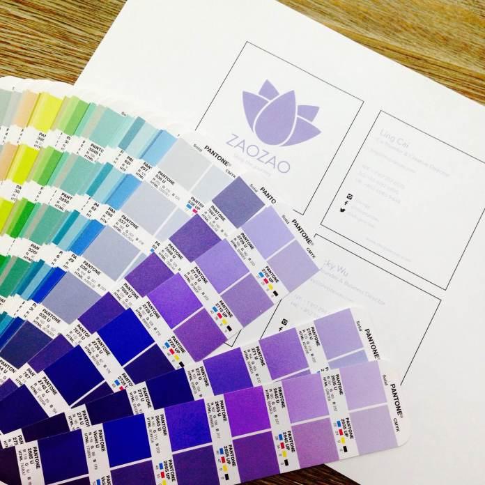 Rainbow assortment of Pantone colors.