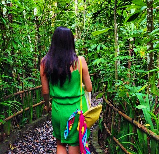 Going deep into the lush greenery at Cantik Agriculture Coffee Farm in Bali, Jakarta.