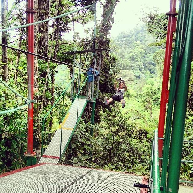 Ziplined my paralyzing fear or heights away today at the Sky Trek in Arenal, Costa Rica.